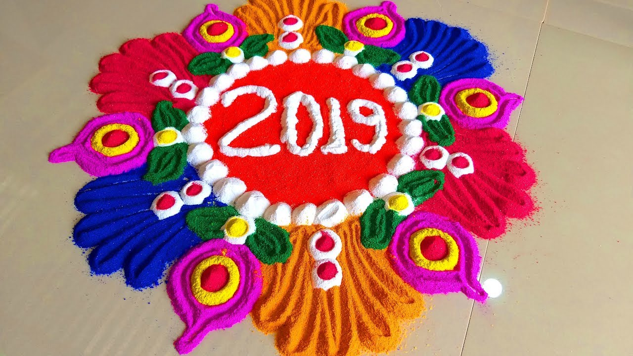 Happy New Year Rangoli 16
