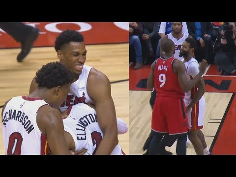 Wayne Ellington Game Winner vs Raptors! James Johnson, Serge Ibaka Ejected! 2017-18 Season