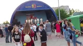 Праздничный концерт на Площади Победы 9 мая в Лисичанске (начало)