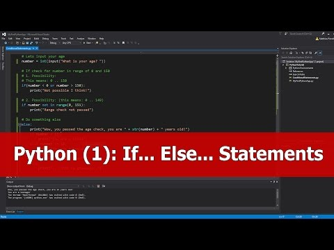 Python Tutorial for Beginners: If Else Statements thumbnail
