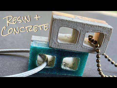 DIY Epoxy Resin and Concrete Cinder Block Necklaces