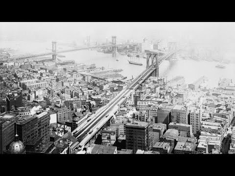 Brooklyn and Manhattan Bridge Historical Photograph