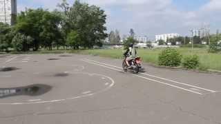 Вождение мотоцикла 10тый урок