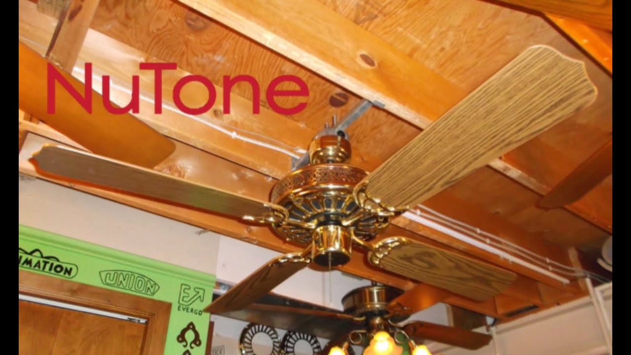 Nutone decorator ceiling fan youtube nutone decorator ceiling fan aloadofball Images