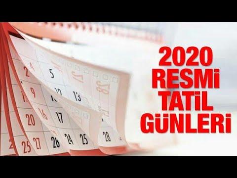 2020 Resmi Tatiller