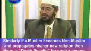 There should be Death penalty For Apostates - Dr. Zakir Naik