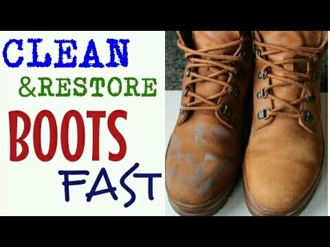 how to clean restore boots shoes fast diy for