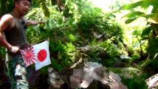 親日国パラオ・ペリリュー島・ゼロ戦発見!日章旗&旭日旗 ?