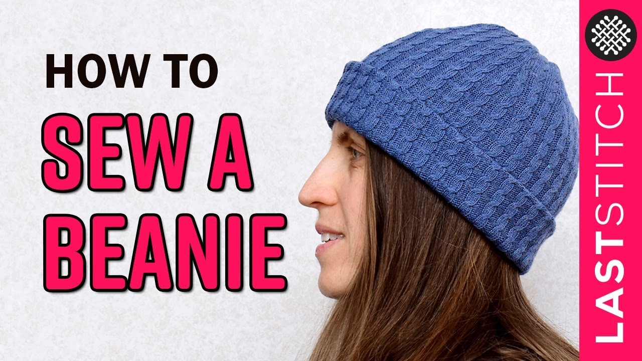 How to sew a beanie hat │ Quick DIY project - YouTube a25de0b7e9a