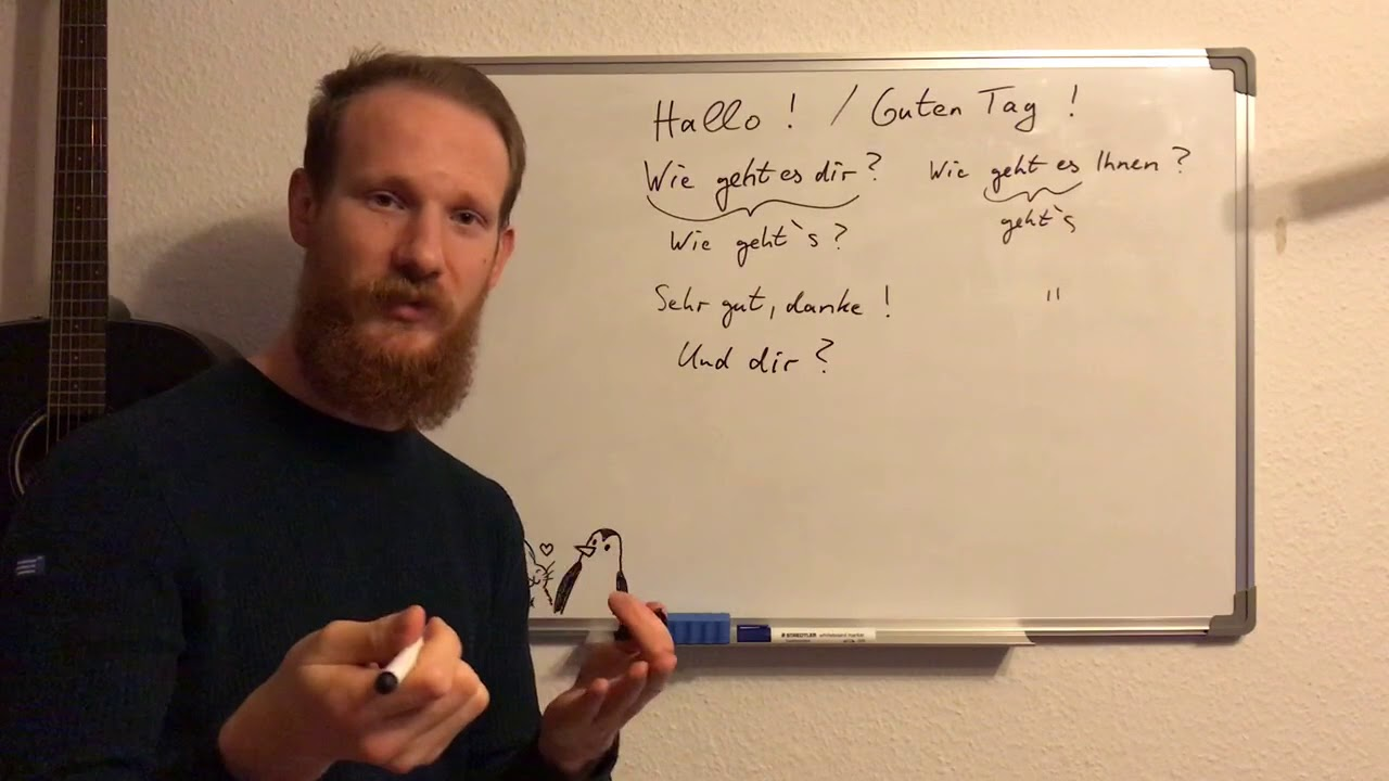 German For Everyone Greetings Youtube
