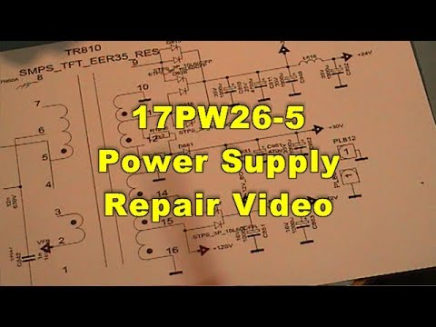 luxtvb power supply repair type pw, wiring diagram