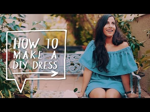 DIY OFF-THE-SHOULDER DRESS | How To Make  a DIY Dress + Top | Sewing Project ✨ Alejandra's Styles