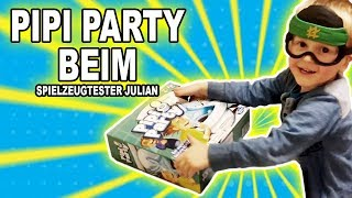 Pipi Party beim Spielzeugtester Julian