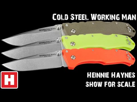 Cold Steel Working Man - Heinnie Haynes Show for scale