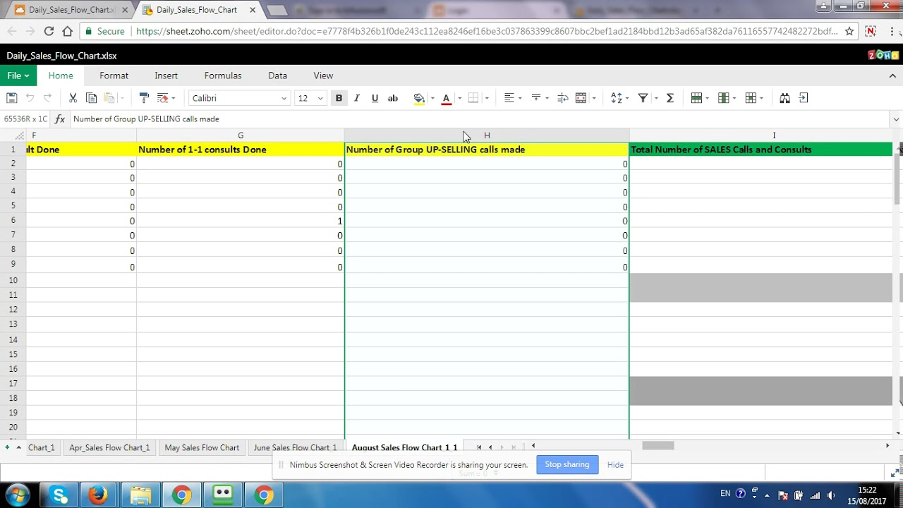 daily sales tracking spreadsheet youtube