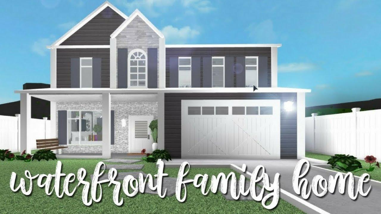 Bloxburg Waterfront Family Home 55k Youtube
