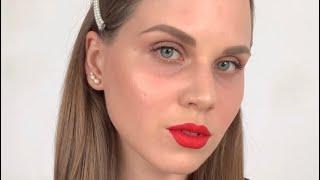 Лёгкий макияж в стиле Голливуд но без стрелок Все продукты из видео в описании