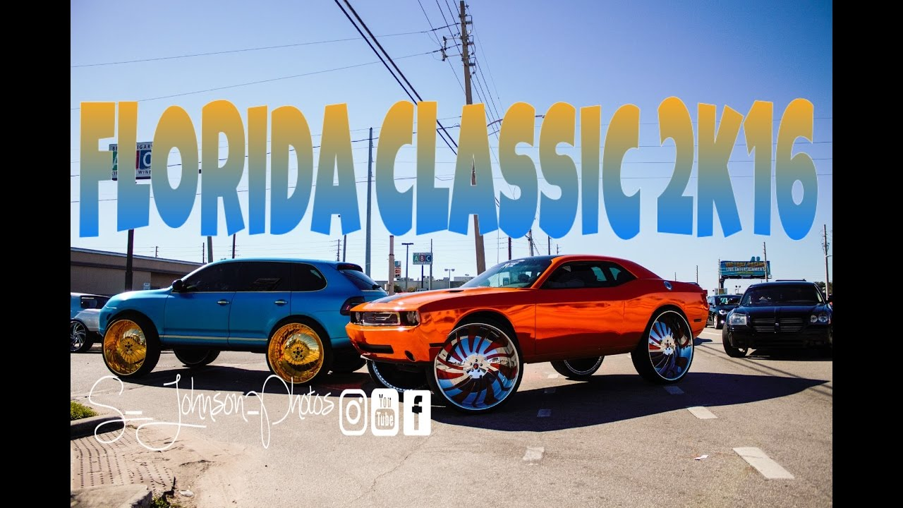Florida Classic Weekend 2k16 Sunday in HD (big rims, classic cars, Loud  music, and lifted trucks)