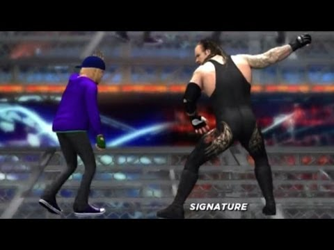 WWE '12: Justin Bieber vs The Undertaker on Top of a Cell Travel Video
