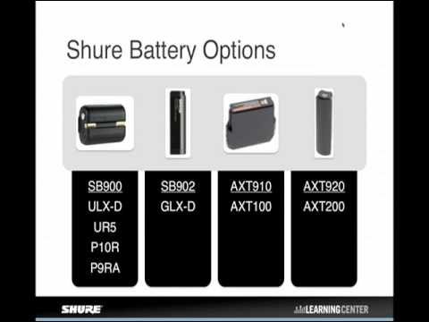 Shure Webinar - Rechargeable Battery Solutions for Wireless Microphone Systems
