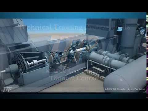 Ge Gas Turbine >> LMS100 Gas Turbine for Power Plant Training - YouTube
