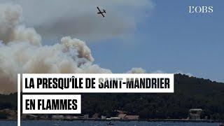 L'impressionnant incendie sur la presqu'île de Saint-Mandrier, dans le Var