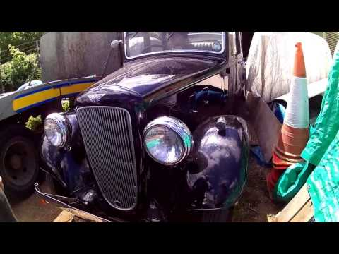 three beautiful old classic cars !   Austin Rolls and Morris