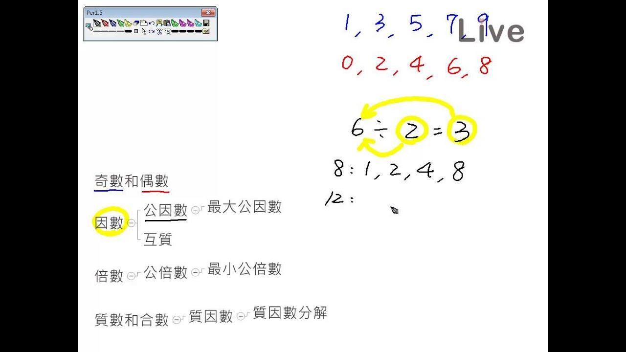 (2)國小數學總複習_《數》─整數(因數和倍數)_【觀念】_by Live數位國中數學_名師葛倫 - YouTube