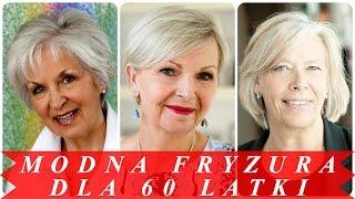 Modna fryzura dla 60 latki