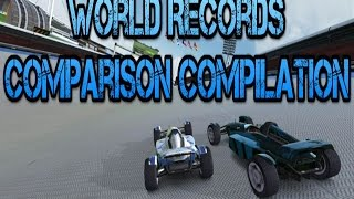 The World Records Comparisons Compilation [Trackmania]
