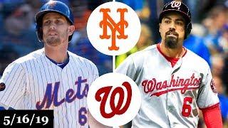 New York Mets vs Washington Nationals - Full Game Highlights   May 16, 2019   2019 MLB Season