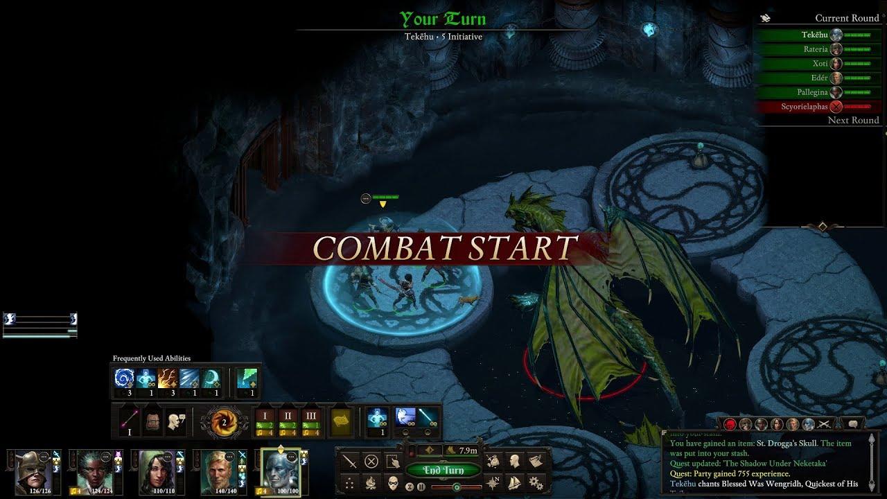 Pillars of Eternity 2: Deadfire turn-based combat