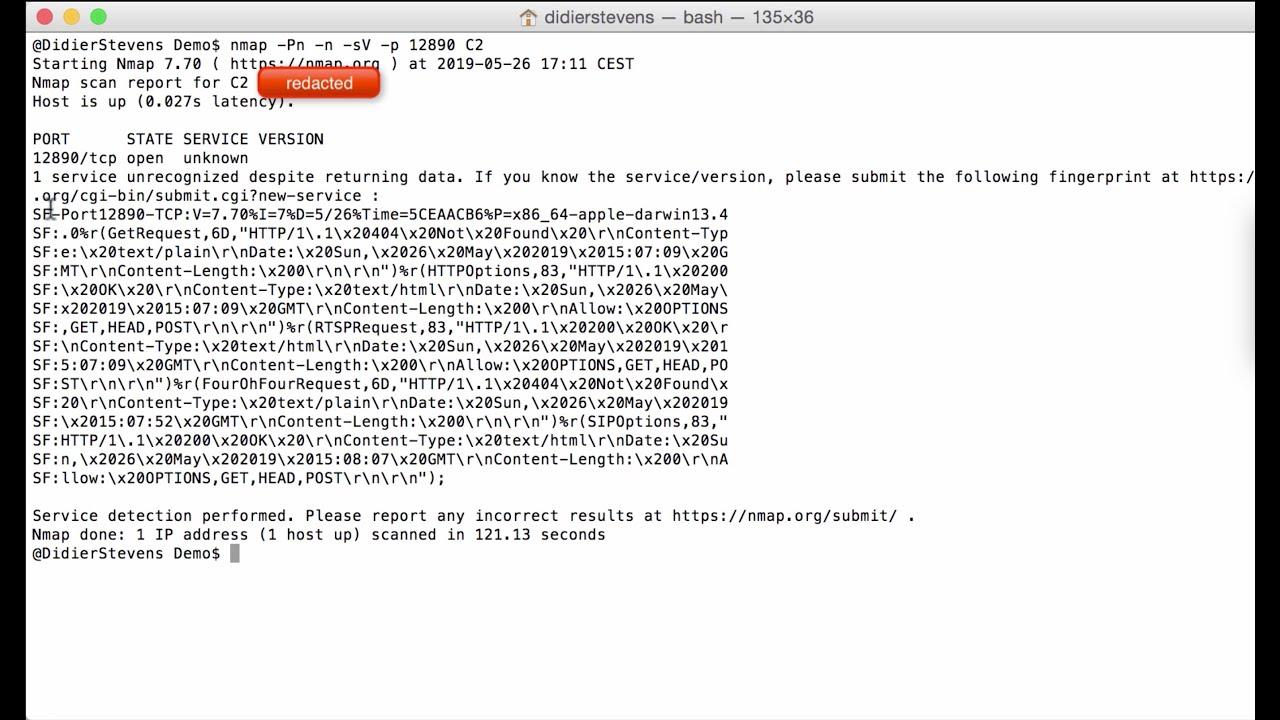 nmap Service Fingerprint - SANS Internet Storm Center