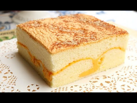 How To Make Soft Cheese Sponge Cake | Super Fluffy Castella Cake With Cheese - 古早味起司蛋糕 現烤蛋糕 棉花蛋糕
