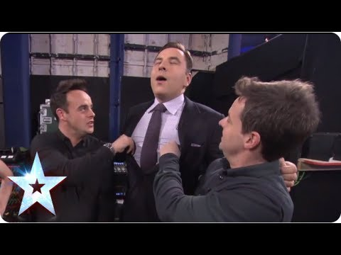 David Walliams gets his nipples tweaked | BGT Unseen with Morrisons | Britain's Got Talent 2013