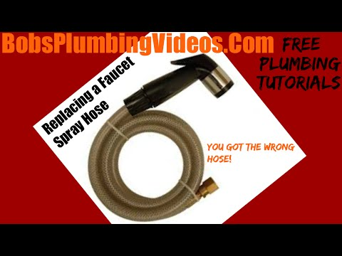 how to replace a hose in your pullout kitchen faucet youtube rh youtube com