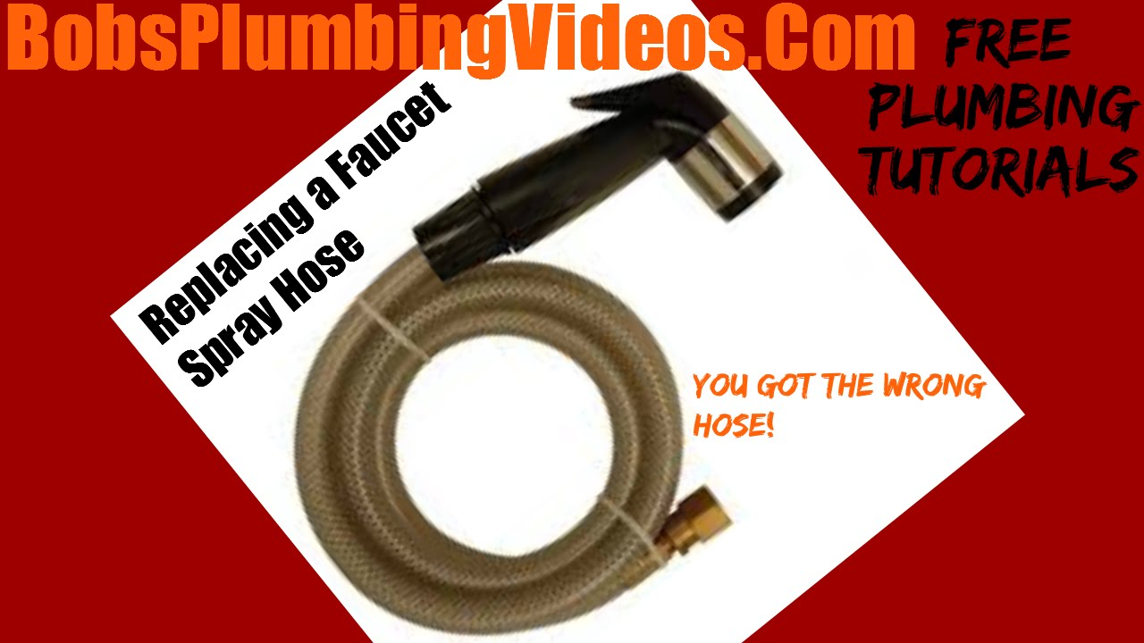 how to repair or replace a faucet spray hose