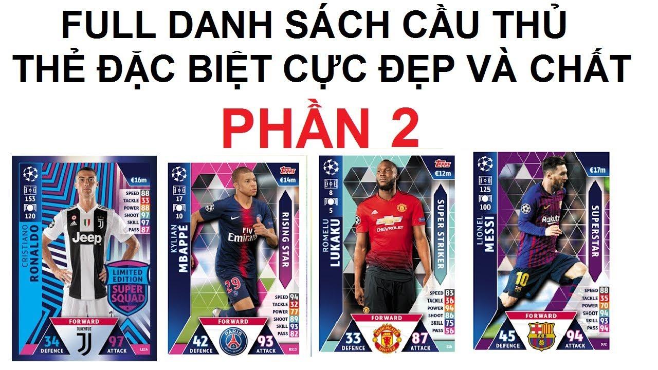 Các loại thẻ đặc biệt của Match Attax UCL 2018/2019 phiên bản nước ngoài   Phần 2