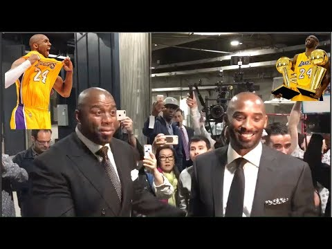 fd3632dd2 Kobe Bryant Arrives At The Staples Center For His Jersey Retirement Ceremony
