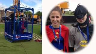 Gina and Tom's Superhero Charity Bungee Jump for Blackpool Comic Con