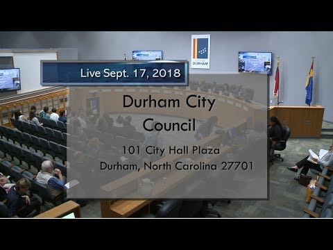 Durham City Council Sept 17, 2018