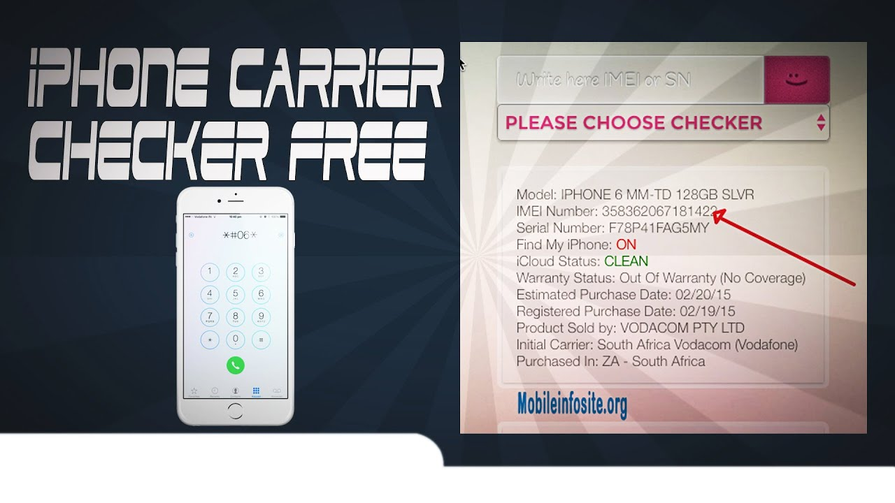 iphone carrier checker free - YouTube