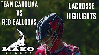 Local Joes (Team Carolina) vs Red Balloons (Charlotte Catholic) High School Fall Lacrosse Highlights