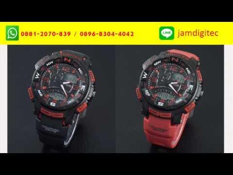 PROMO!!! WA 0881-2070-839 Jam Tangan Digitec Pria, Cowok, Laki-laki, 2057 Dual Time