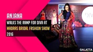 Anjana Walks The Ramp For Diva @ Madras Bridal Fashion Show 2016