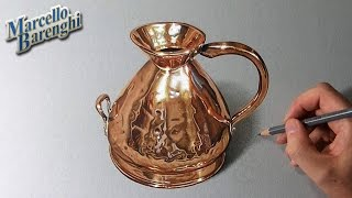 How to draw a copper jug
