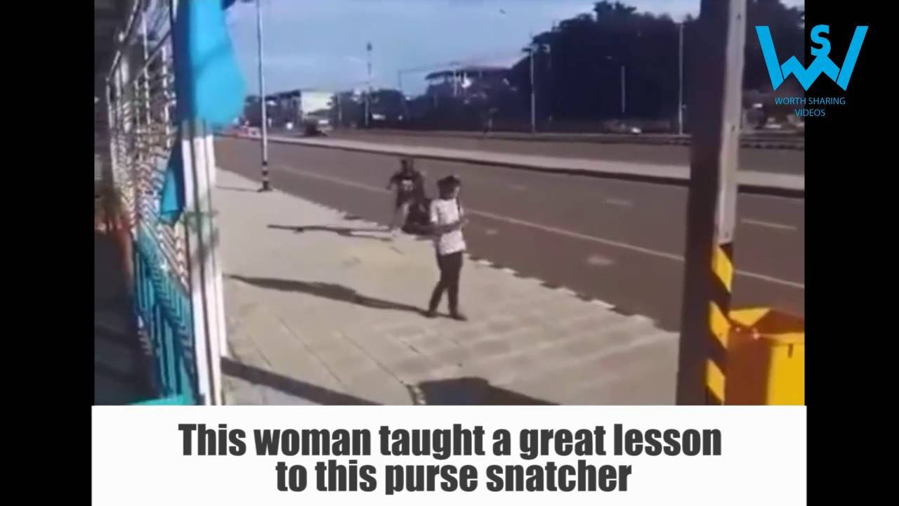 Purse snatcher learns a lesson