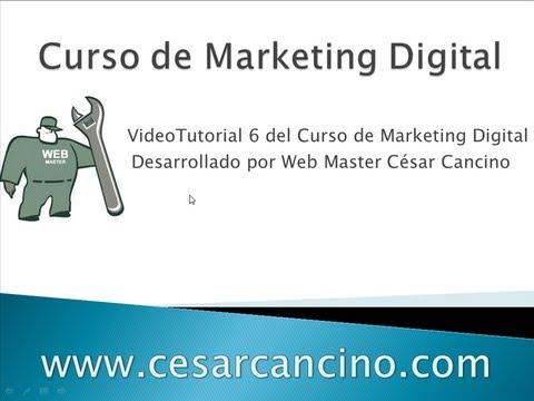 VideoTutorial 6 del Curso de Marketing Digital. Introducción a Google Analytics