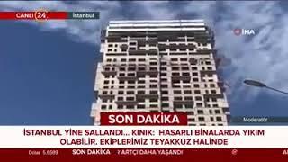 #sondakika İstanbul'da depremden yeni görüntüler