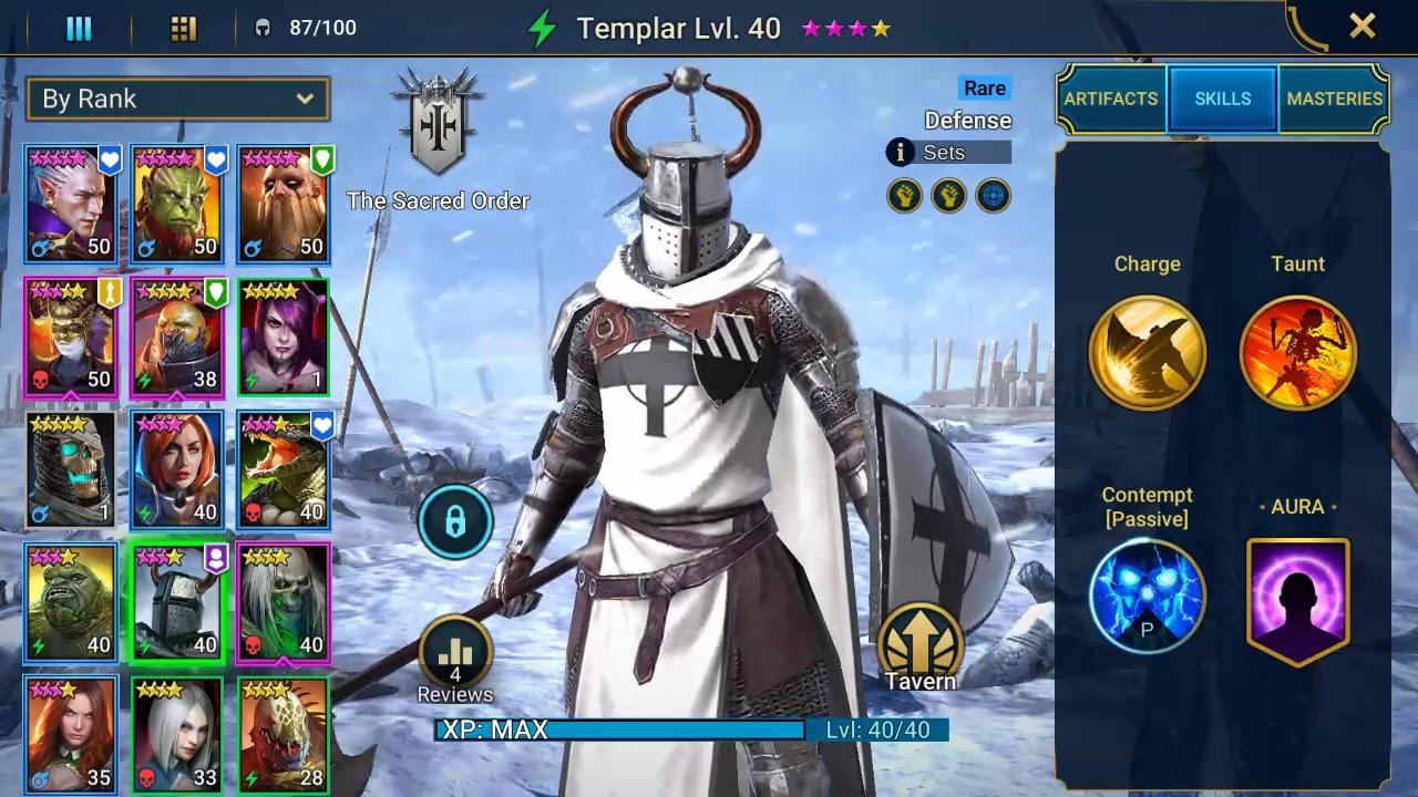 Raid Shadow Legends  Templar rare